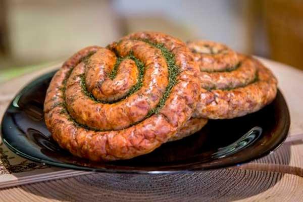 Краинская жаренная колбаса от компании Три Крестьянина